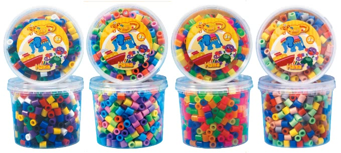 妇幼 玩具 拼图串珠拼贴 拼豆/拼豆桶 【hama幼儿大豆豆】600颗大拼豆