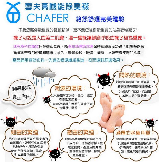 【雪夫除臭襪】MIT奈米技術-造型船襪6件組(贈送高透氣除臭鞋墊1雙)