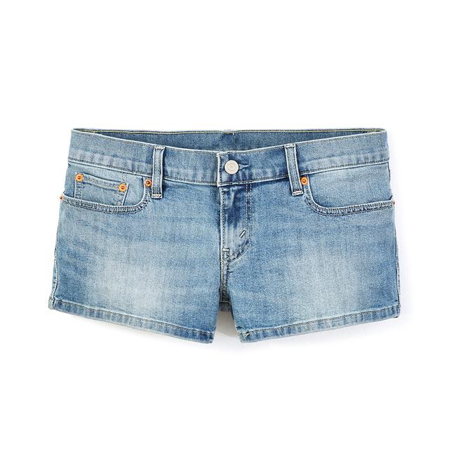 【Levis】女款COOL JEANS湛藍微水洗貓鬚丹寧牛仔短褲