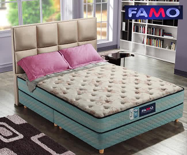 【FAMO】二線(CF系列)獨立筒床墊(手染涼感紗+Coolfoam記憶膠麵包床)-雙人5尺,床墊,獨立筒,FAMO,麵包床,雙人床墊,乳膠墊,保潔墊