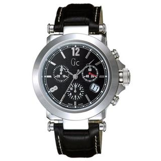 【Gc】知性時尚三眼計時錶-SWISS MADE(黑 GXS31000G2)
