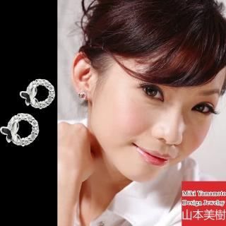 (山本美樹)舞蝶 水晶耳環(M)   山本美樹