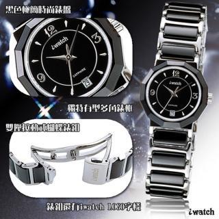iwatch 歐風時尚陶瓷女錶(黑)_IW-2006L