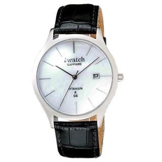 【iwatch】鈦鍺元素時尚健康腕錶-白貝殼面(IW-1006-7)
