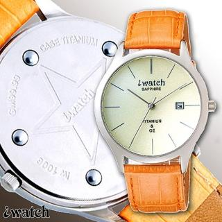 iwatch 鈦鍺能量健康時尚腕錶(米黃面)_IW-1006-4