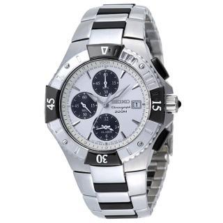 SEIKO 深海探險家兩地時間錶(白)