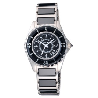 Roven Dino羅梵迪諾 香榭都會時尚陶瓷錶(黑-小)