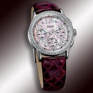【TITUS】都會三眼淑女計時腕錶