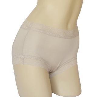 賽凡絲 純蠶絲蕾絲平口蠶絲褲-銀灰色2件組