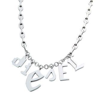 DIESEL 嘻哈字母項鍊(銀)