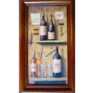 【開運陶源】《Wine-3》原木鑰匙盒壁飾