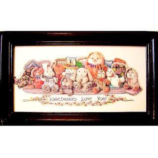 【開運陶源】《愛兔寶寶Bunnies》原木鑰匙盒壁飾