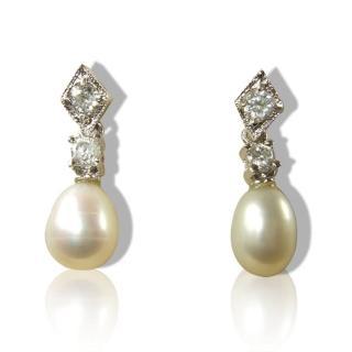 【小樂珠寶】漂亮天然珍珠耳環*高雅風耳針款