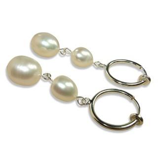 【小樂珠寶】頂級11mm天然珍珠耳環*超大珍珠款