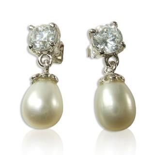 【小樂珠寶】頂級天然珍珠耳環*圓形美鑽款
