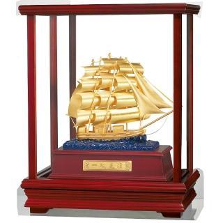 【開運陶源】純金 立體金箔櫥窗禮物~(一帆風順)