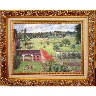 【開運陶源】Camille Pissarro卡密爾‧畢沙羅-厄哈格尼 我窗外的景緻中幅