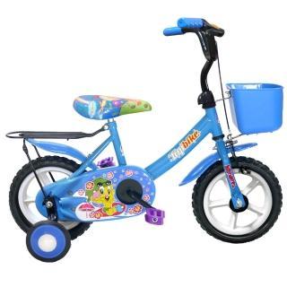 【Adagio】12吋酷寶貝童車附置物籃-台灣製造(藍)