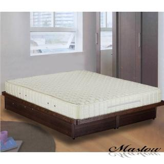 (Maslow-歡喜成家)雙人獨立筒床墊+胡桃木掀床組
