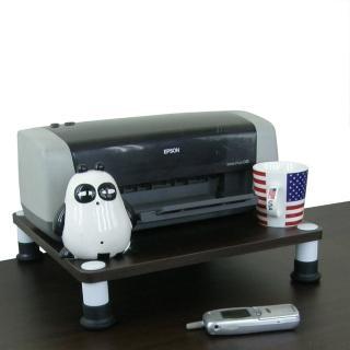 【美佳居】40公分x40公分-桌上型置物架(深胡桃木色)