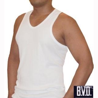 【BVD】BVD時尚天然純棉羅紋背心-6件組