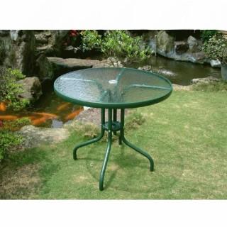 【BROTHER 兄弟牌】兄弟牌80cm玻璃庭院桌(綠色)