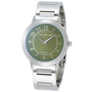 cK 鐘點情人時尚腕錶(綠/小)