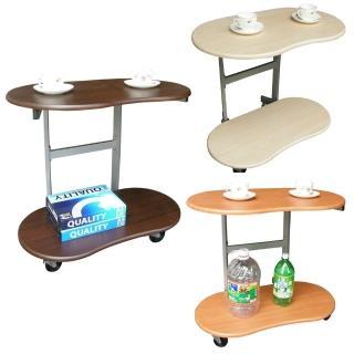 【美佳居】耐重型(雙層)活動式餐桌/邊桌(三色可選)