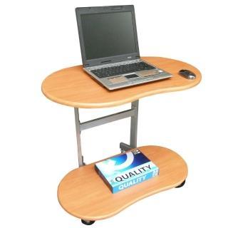 【美佳居】耐重型(雙層)活動式電腦桌/邊桌(三色可選)