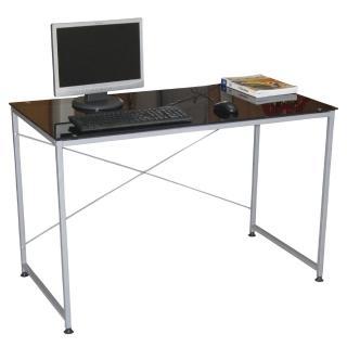 【美佳居】120x60(強化玻璃)書桌/電腦桌(黑色)