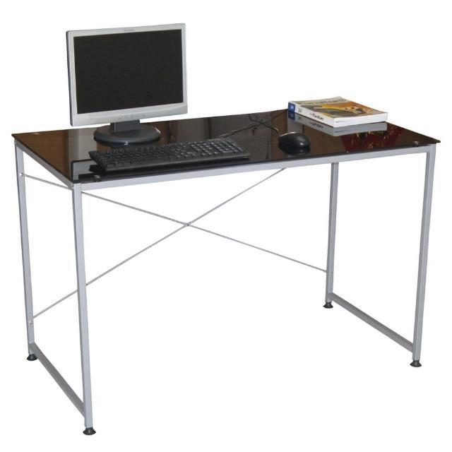 【美佳居】120x60(強化玻璃)書桌-電腦桌(黑色)