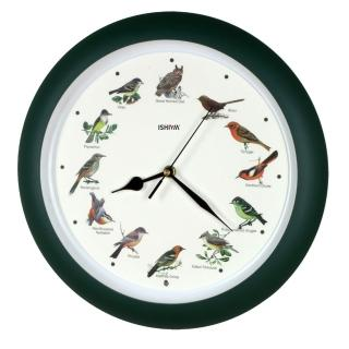 【DeeDa鐘情坊 TCBD005】墨綠色小鳥掛鐘(台製 機心 省電)