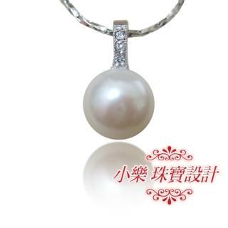 (小樂珠寶)頂級天然珍珠墜子★時髦有型款