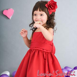 (Lovin Sweetii)喜樂小公主童洋裝~紅~限量款