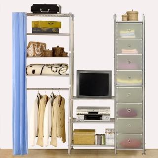 【巴塞隆納】W4型60+60+D電視衣櫥置物櫃