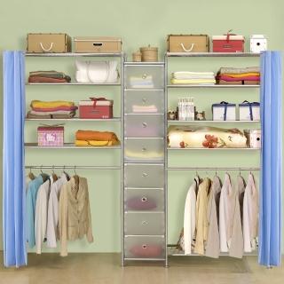 【巴塞隆納】W4型90+D+W5型90衣櫥置物櫃