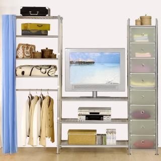 【巴塞隆納】W3型90+60+D電視衣櫥置物櫃