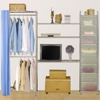 【巴塞隆納】W2型60+90+D電視衣櫥置物櫃