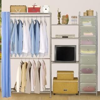 【巴塞隆納】W2型90+60+D電視衣櫥置物櫃