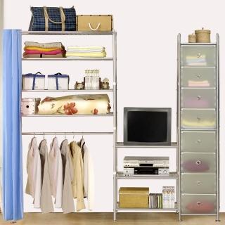 【巴塞隆納】W4型90+60+D電視衣櫥置物櫃