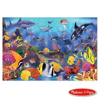 【美國 Melissa & Doug】大型地板拼圖 - 熱帶海洋(48 片)