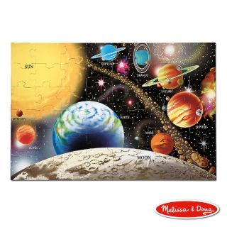 【美國 Melissa & Doug】大型地板拼圖 - 太陽系行星(48 片)