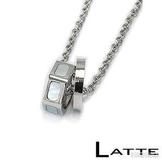 (LATTE)貝殼戀人 不鏽鋼項鍊(女鍊)