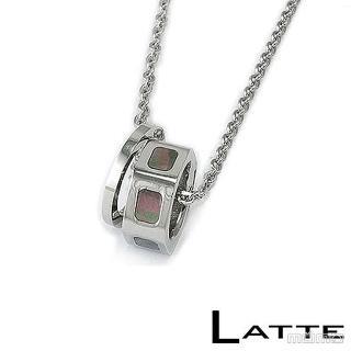 (LATTE)貝殼戀人 不鏽鋼項鍊(男鍊)
