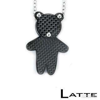(LATTE)Baby Bear 小熊不鏽鋼項鍊(男鍊)