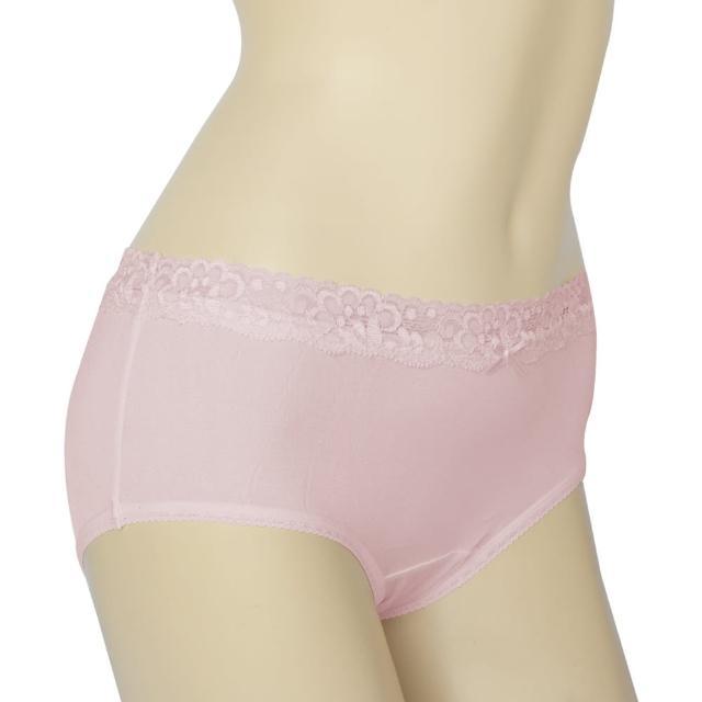 賽凡絲法式蕾絲完美情人純蠶絲內褲(粉紅)2件組