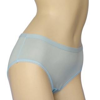 賽凡絲花樣年華純蠶絲內褲(水藍)2件組