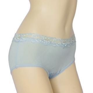 賽凡絲法式蕾絲完美情人純蠶絲內褲(水藍)2件組