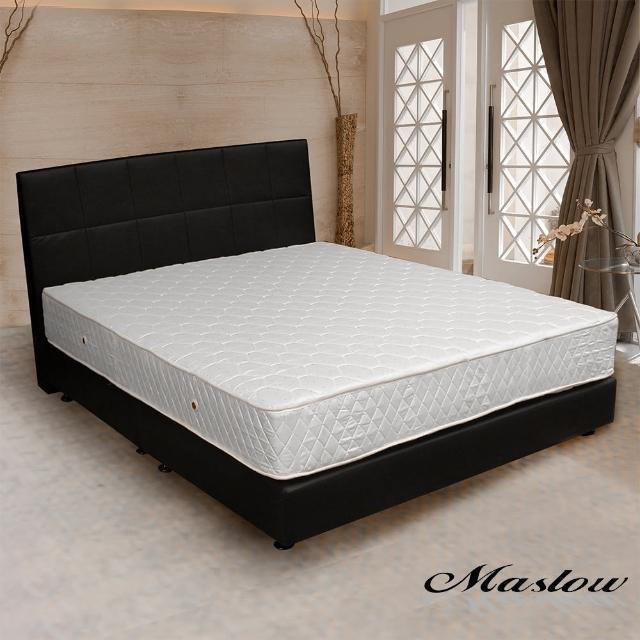 (Maslow-時尚皮製)加大床組-6尺(不含床墊)-黑