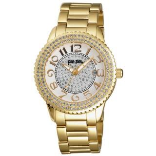 Folli Follie 愛琴海晶鑽腕錶(金)